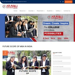 Future Scope of MBA in India - Aravali College of Engineering and Management
