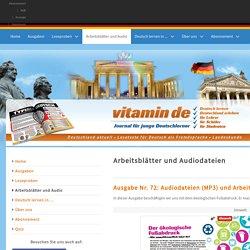 Arbeitsblätter und Audiodateien - vitamin de