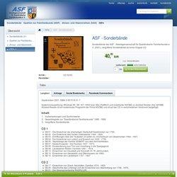 Sonderbände der ASF - Arbeitsgemeinschaft für Saarländische Familienkunde e. V. (2001) - Arbeitsgemeinschaft für Saarländische Familienkunde e. V.