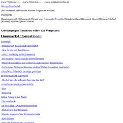 www.70nord.de, Arbeitsgruppe Erinnern wider das Vergessen, Finnmark, Informationen