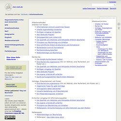 Arbeitsmethoden - Herr Kalt –Website zum Unterricht