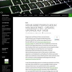 Mehr Arbeitsspeicher im MacBook Pro – Update: Upgrade auf 16GB
