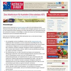» Das Arbeitsvisum für Australien (Visa subclass 457) - Australien Blogger