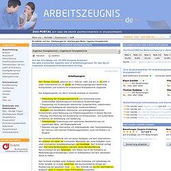Ingenieur Energietechnik / Ingenieurin Energietechnik - arbeitszeugnis.de