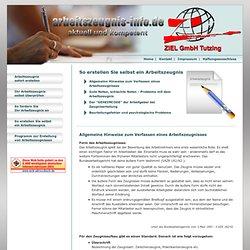 Arbeitszeugnisse - kostenlose Informationen, Software, Checklisten & Musterformulare - Arbeitszeugnis selbst erstellen
