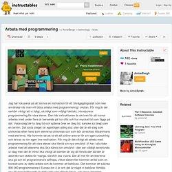 Arbeta med programmering - All