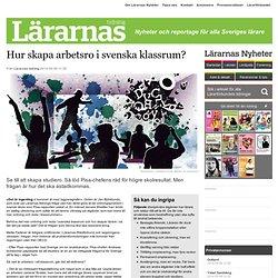 Hur skapa arbetsro i svenska klassrum?