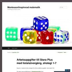 Arbetsuppgifter till Stora Plus med tiotalsövergång, strategi 1-7