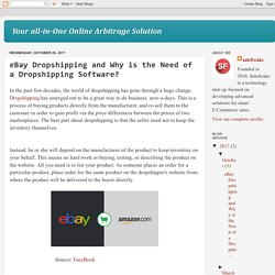 Your all-in-One Online Arbitrage Solution: eBay Dropshipping and Why is the Need of a Dropshipping Software?