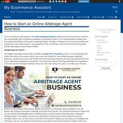 Benefits of Online Arbitrage Agent Business