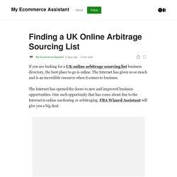 Best UK Online Arbitrage Sourcing List