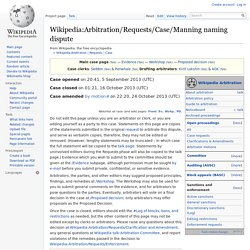 Wikipedia:Arbitration/Requests/Case/Manning naming dispute