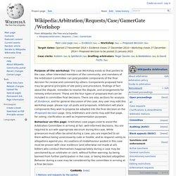 Wikipedia:Arbitration/Requests/Case/GamerGate/Workshop