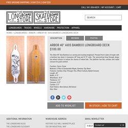 "Arbor 40"" Axis Bamboo Longboard Deck - The Longboard Store"