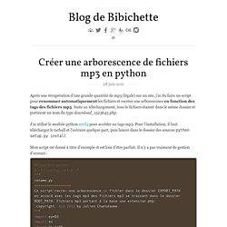 Créer une arborescence de fichiers mp3 en python