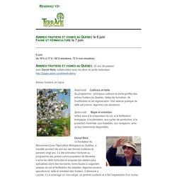Arbres fruitiers et vignes au Québec