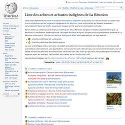 Liste des arbres et arbustes indigènes de La Réunion