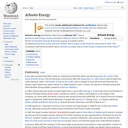 Arbusto Energy, wikipedia