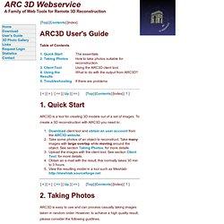 ARC 3D Webservice
