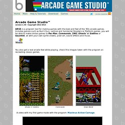 "Arcade Game Studio™ - ""create games with a real classic arcade feel"""