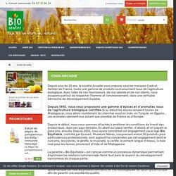 Cook Arcadie - Epices et aromates bio - alimentation bio
