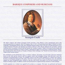 Arcangelo Corelli: a concise biography