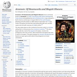 Arcanum: Of Steamworks and Magick Obscura