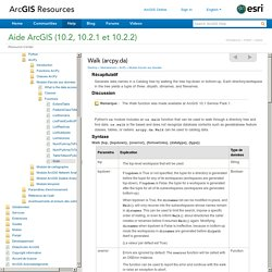 ArcGIS Help 10.2 - Walk (arcpy.da)