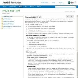 REST API - The ArcGIS REST API