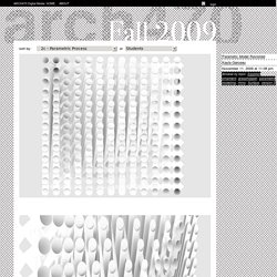 ARCH470 Fall 2009 » 2c – Parametric Process