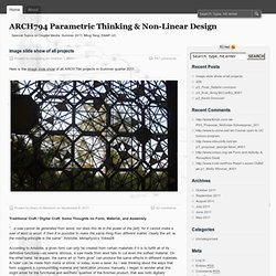 ARCH794 Parametric Thinking & Non-Linear Design