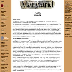 Archaeological Collections in Maryland, Higgins