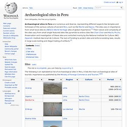Archaeological sites in Peru