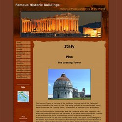 Famous Historic Buildings & Archaeological Site in Italy Pompeii, Herculaneum, Leaning Tower of Pisa, Duomo Florence