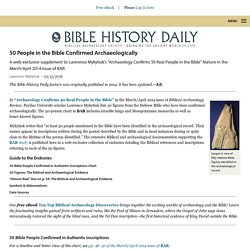 50 People in the Bible Confirmed Archaeologically - Biblical Archaeology Society