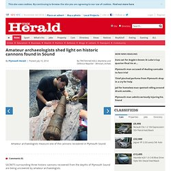 Amateur archaeologists shed light on historic cannons found in Sound