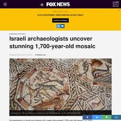 Israeli archaeologists uncover stunning 1,700-year-old mosaic