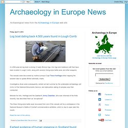 Archaeology in Europe News Blog