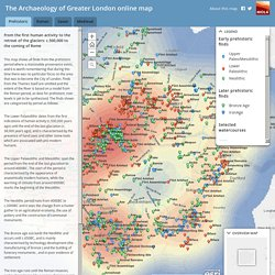The Archaeology of Greater London online map