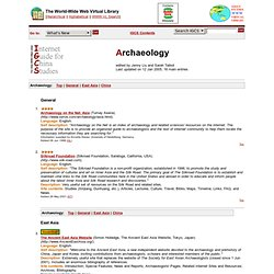 IGCS - Archaeology (China WWW VL - Internet Guide for Chinese Studies)
