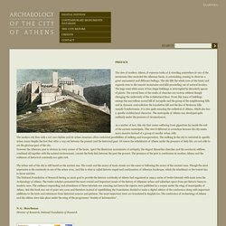ARCHAEOLOGY OF THE CITY OF ATHENS