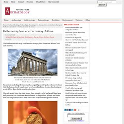 Parthenon may have served as treasury of Athens
