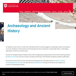 Archaeology and Ancient History at Leicester — University of Leicester