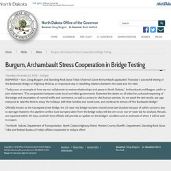 Burgum, Archambault Stress Cooperation in Bridge Testing