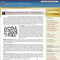 Walking with Jesus in Holy Week – A daily Calendar