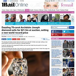 Archduke Joseph Diamond sets new record as it sells at auction for $21.5m
