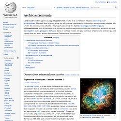 Archéoastronomie