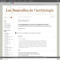 L'archéogéographie au service d'un diagnostic territorial