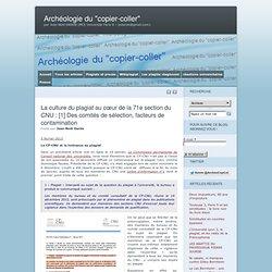 La culture du plagiat au cœur de la 71e section du CNU : [1] Des comités de sélection, facteurs de contamination
