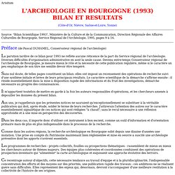 L'ARCHEOLOGIE EN BOURGOGNE (1993)